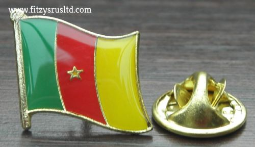 Cameroon Country Flag Lapel Hat Cap Tie Pin Badge Republique du Cameroun